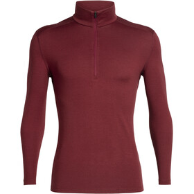 Icebreaker 260 Tech LS Half Zip Shirt Men cabernet
